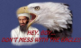 bin laden....don't mess with the Eagle!