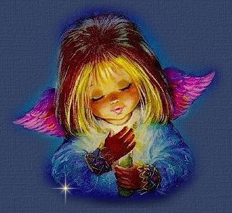 This lovely little angel has a poem from the heart....for you.