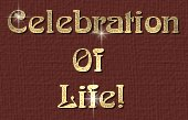 Celebration Of Life title Graphic.