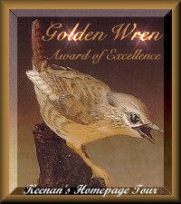 Golden Wren Award...Aug 2001