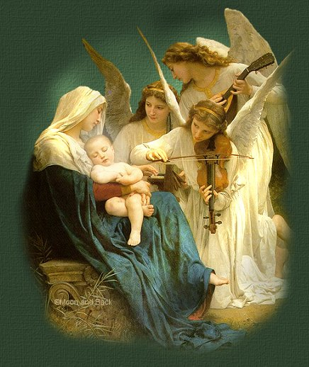 Angels sing to Jesus On The First Christmas