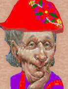 """...and when I am old I shall wear purple,with a red hat that doesn't go"""
