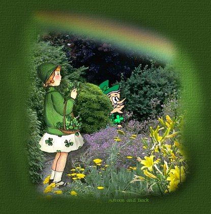Rainbows, leprechauns, lilys,a four-leafed clover, and a pretty girl...What more could ya ask for?
