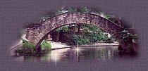 Small bridge image created by moon and back graphics.
